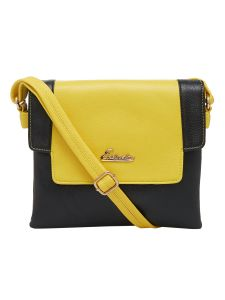 Esbeda Black Solid Pu Synthetic Material Slingbag For Women (code-2164)