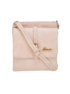 Esbeda Pink Solid Pu Synthetic Material Slingbag For Women(code-2179)
