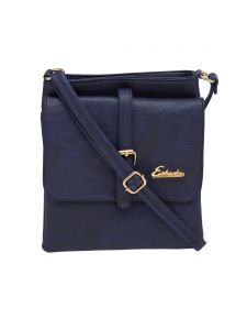 Esbeda Blue Solid Pu Synthetic Material Slingbag For Women(code-2180)