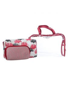 ESBEDA Red Printed Pu Synthetic Material Travelling Kit For Women(Code-2220)