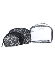 ESBEDA Black Printed Pu Synthetic Material Travelling Kit For Women(Code-2231)