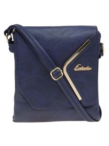 Esbeda Dark Blue Solid Pu Synthetic Material Slingbag For Women-( Code-2295)