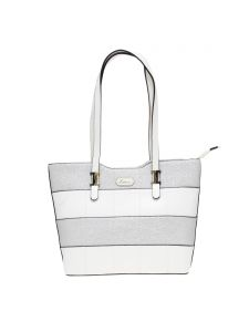 Esbeda White Checkered Pu Synthetic Material Handbag For Women-( Code-2309)