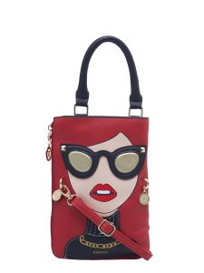ESBEDA Red Color Printed Pu Synthetic Material Slingbag For Womens(Code-2330)