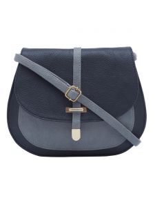 Esbeda Black-grey Color Solid Pu Synthetic Material Slingbag For Womens(code-2380)