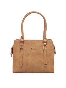 ESBEDA Beige Color Solid Pu Synthetic Fabric Handbag For Women(Code-2395)