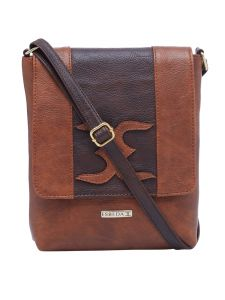 Esbeda Tan-d-brown Color Solid Pu Synthetic Material Slingbag For Womens(code-2400)