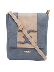 Esbeda Grey-beige Color Solid Pu Synthetic Material Slingbag For Womens(code-2401)