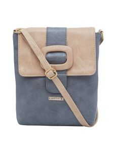 Esbeda Grey-beige Color Solid Pu Synthetic Material Slingbag For Womens(code-2407)