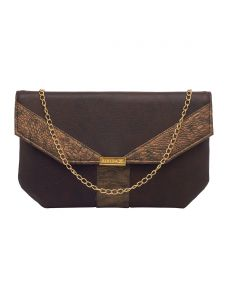 Esbeda Brown Color Solid Pu Synthetic Fabric Clutch For Women(code-2435)