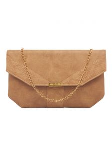 Esbeda Beige Color Solid Pu Synthetic Fabric Clutch For Women(code-2436)