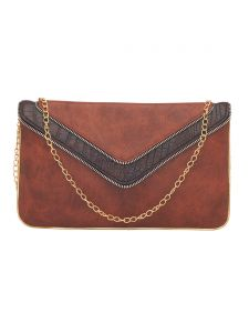 Esbeda Tan Color Solid Pu Synthetic Fabric Clutch For Women(code-2441)