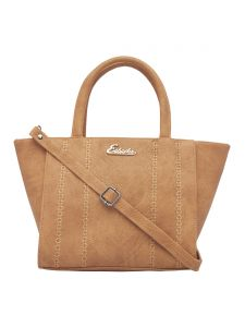 Esbeda Beige Color Embroidered Pu Synthetic Fabric Handbag For Women(code-2444)