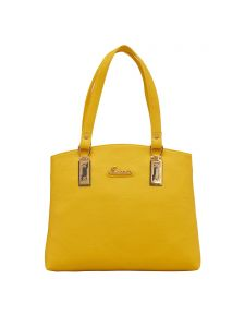ESBEDA Yellow Color Solid Pu Synthetic Fabric Handbag For Women(Code-2448)
