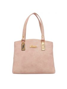 ESBEDA Pink Color Solid Pu Synthetic Fabric Handbag For Women(Code-2452)