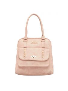 ESBEDA Light Pink Color Solid Pu Synthetic Fabric Handbag For Women(Code-2458)
