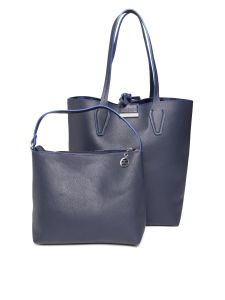Esbeda Blue Solid Pu Synthetic Totebag With Pouch For Womens( Code-2480)