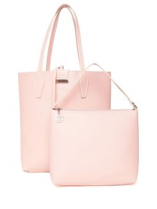 Esbeda Pink Solid Pu Synthetic Totebag With Pouch For Womens( Code-2483)
