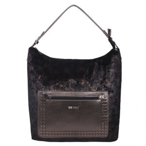 ESBEDA Black Solid PU Synthetic Totebag For Womens (Code - 4224 Black)   Black