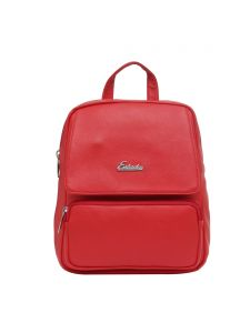Esbeda Red Solid Pu Synthetic Fabric Bagpack For Womens(code-2543)
