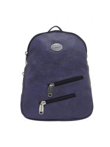 Esbeda Dark Blue Solid Pu Synthetic Fabric Bagpack For Womens(code-2546)