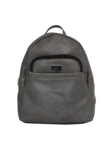 Esbeda Grey Solid Pu Synthetic Fabric Bagpack For Womens(code-2550)