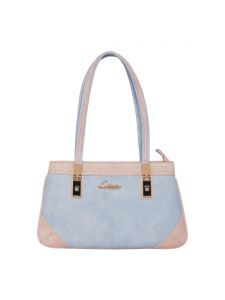 ESBEDA Light Blue & Light Pink Solid PU Synthetic Handbag For Women(Code-2680)
