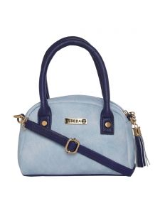 ESBEDA Light Blue & Dark Blue Solid PU Synthetic Slingbag For Women (Code-2721)