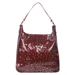 Esbeda Women's Clothing - ESBEDA Burgundy Self Design PU Synthetic Totebag For Womens (Code - 4233 Maroon)   Maroon