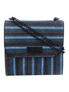 Esbeda Multicolor Striped Pu Synthetic Slingbag For Women(code-3419)