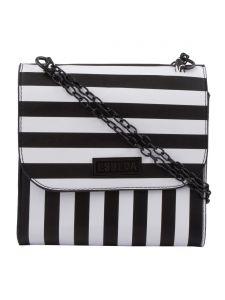 ESBEDA Black & White Striped PU Synthetic Slingbag For Women(Code-3423)