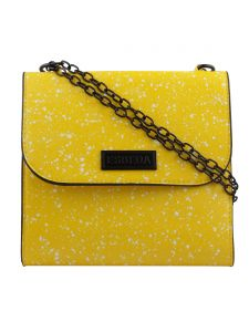 ESBEDA Yellow Printed PU Synthetic Slingbag For Women(Code-3435)