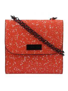 ESBEDA Orange Printed PU Synthetic Slingbag For Women(Code-3436)
