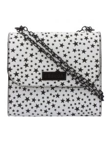 ESBEDA Black & White Printed PU Synthetic Slingbag For Women(Code-3440)