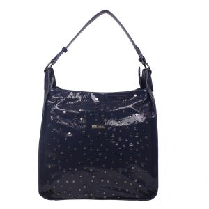 Esbeda Blue Self Design Pu Synthetic Totebag For Womens (code - 4234 Blue) Blue