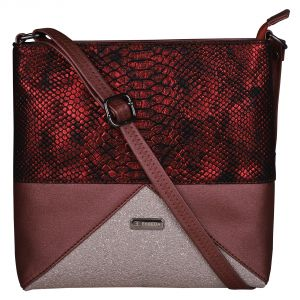 Esbeda Maroon Color Pu Synthetic Material Twinkle Star Slingbag For Womens