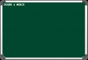 Roger & Moris Chalk Board (1.5feet X 1feet)
