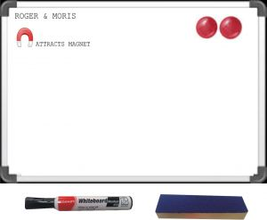 Combo Of Magnetic White Board 2 X 1.5,magnetic Buttons,marker,duster