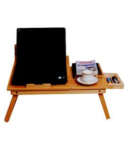 Roger & Moris Laptop Table With Slots & Drawer (22 Inch)