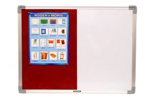 Roger And Moris Aluminium Framed Combination Board (white And Pin Board) 2 X 1.5 Feet