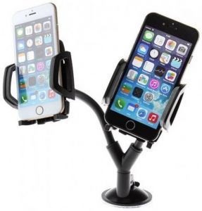Cellphonez Dual Car Mobile Holder For Dashboard, Windshield