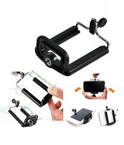 Camera Stand Clip Bracket Holder Tripod Monopod Mount Adapter For Mobile Phone.