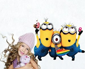 Cute Minions Wall Stickers For Kids Rooms Zooyoo1406 Decorative Wall Decal.