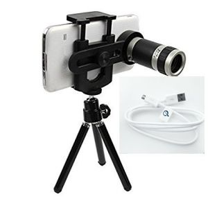 Universal 8x Zoom Mobile Phone Telescope Camera Lens & Tripod