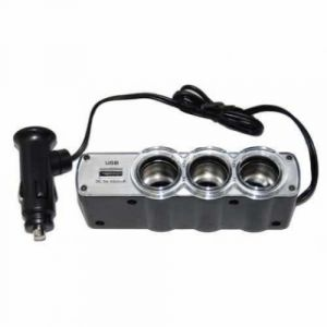 Triple Socket Charger Adapter/car Charger Extension With Multiple Sockets