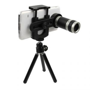 Universal 8x Optical Zoom Telescope Camera Lens With Mini Tripod Holder
