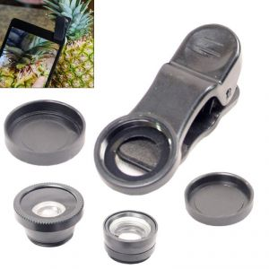 3 In 1 Universal Clip Mobile Phone Lens Zoom Fish Eye Macro Wide Angle - 01