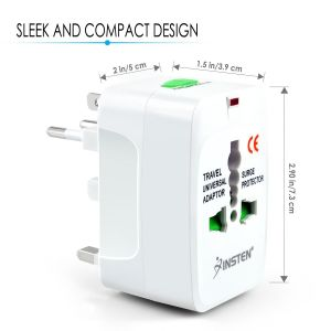 Cellphonez Universal World Wide Travel Charger Adapter Plug, White