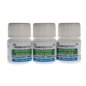 "Homyoxpert Bell""s Palsy (right Side) Homeopathic Medicine For One Month"