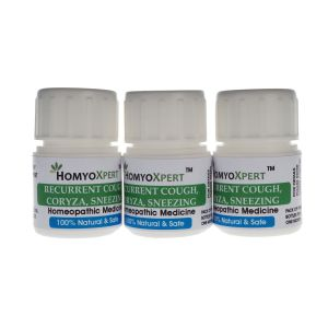 Homyoxpert Recurrent Cough, Coryza, Sneezing Homeopathic Medicine For One Month